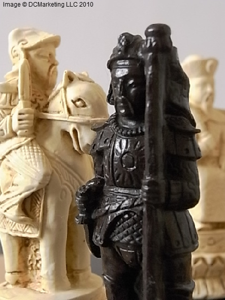 Chinese Plain Theme Chess Set