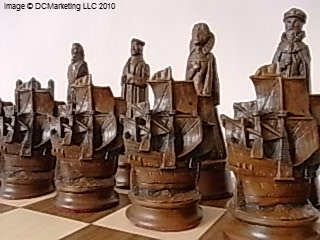 Elizabethan Plain Theme Chess Set