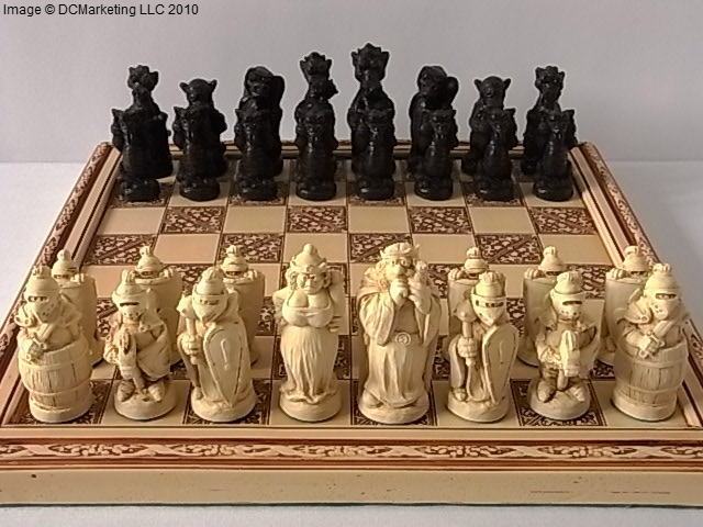 Lord of the rings chess set fantasy chess sets dragon chess sets - Lord of the rings chess set for sale ...