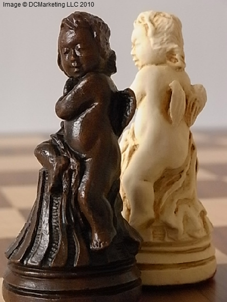 Louis XIV Plain Theme Chess Set