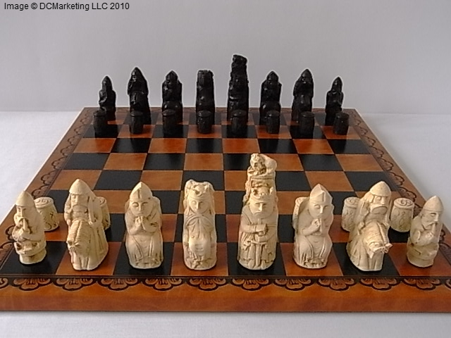 Detailed Chess Set Part - 20: Medieval Plain Theme Chess Set. View Images