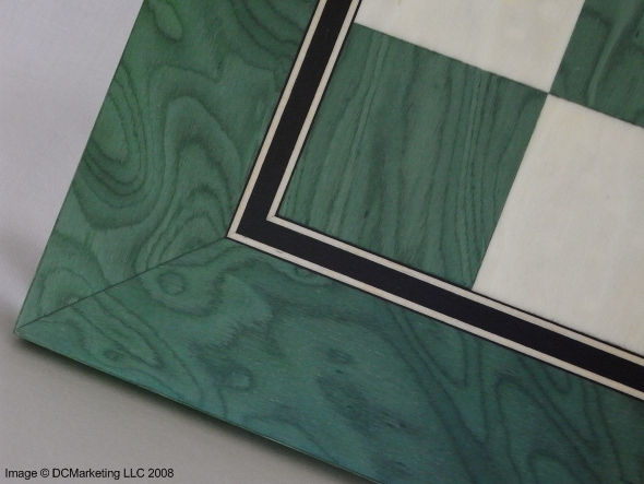 Matt Silk Chess Board - Green