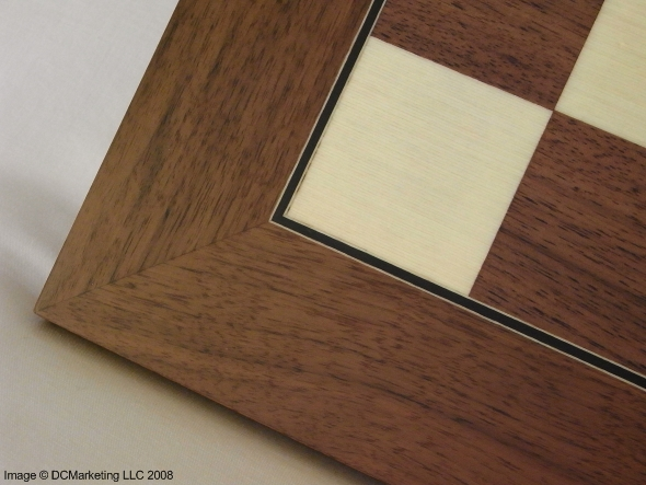 Deluxe American Walnut and Sycamore Chess Board
