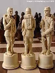 American Civil War Plain Theme Chess Set