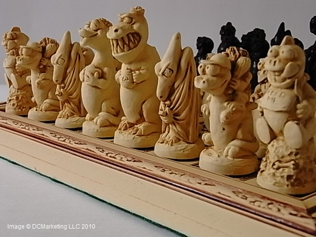 Dinosaur Plain Theme Chess Set