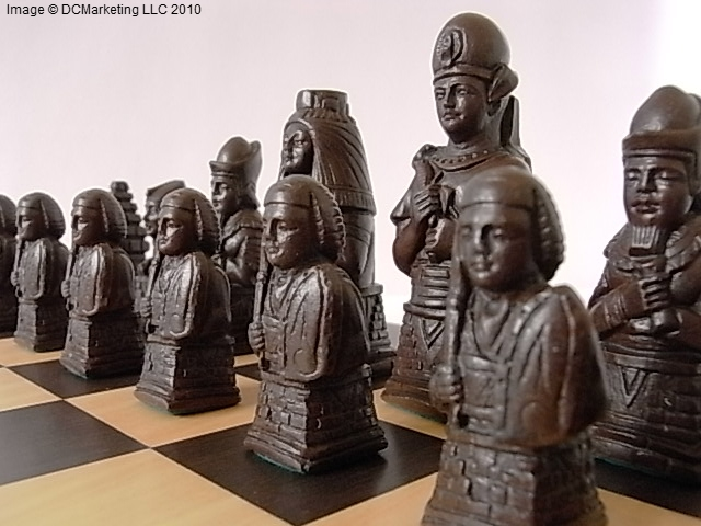 Egyptian Plain Theme Chess Set