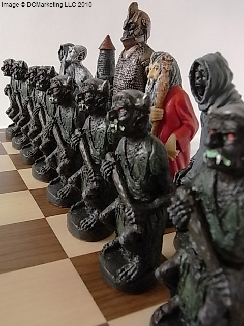 Lord of the Rings Hand Painted Theme Chess Set