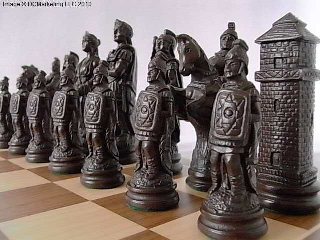 Roman Plain Theme Chess Set