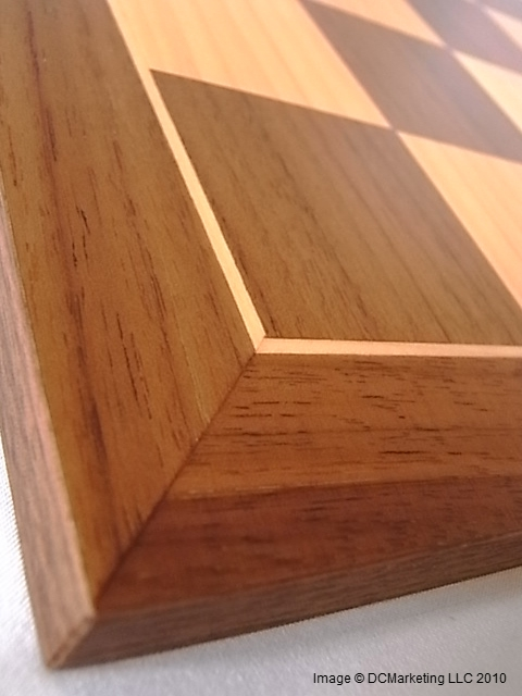 Deluxe Walnut and Maple Wood Veneer Chess Board - 45cm
